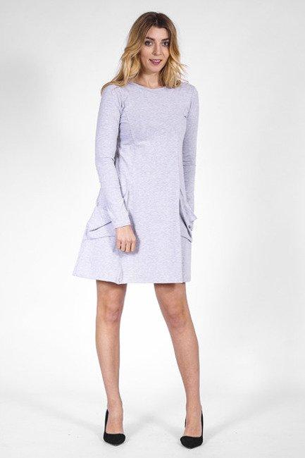d4a00e6067d4dc Sukienka dzianinowa z kieszeniami szary | Odzież \ Sukienki | Sklep ...