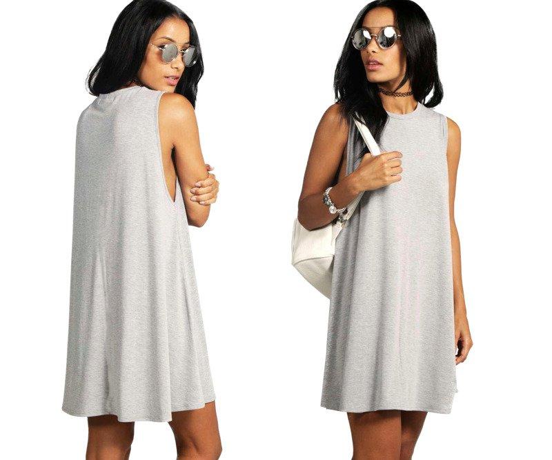 promo code f2139 5662e Damen Frauen Mini Hemdkleid Casual Blusenkleid Sleeveless ...
