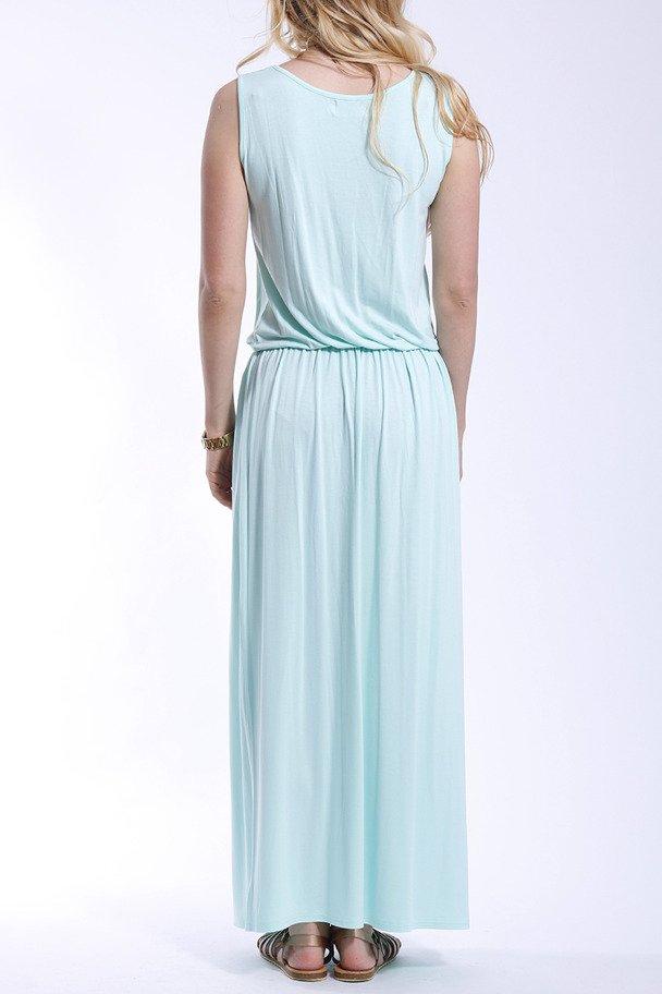 Langes Sommerkleid - hell blau mięta | Kleidung \ Kleider