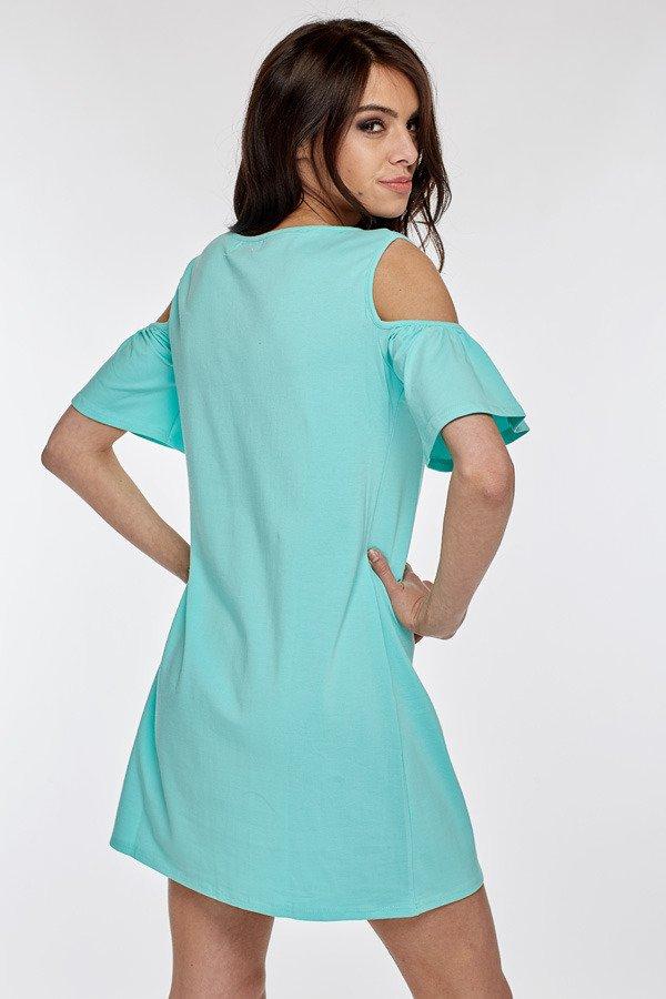 Mikos Damen Kleid Sommer Kleid Schulterfreies Longshirt Tuniken Damen Kleider Sommer Kurz