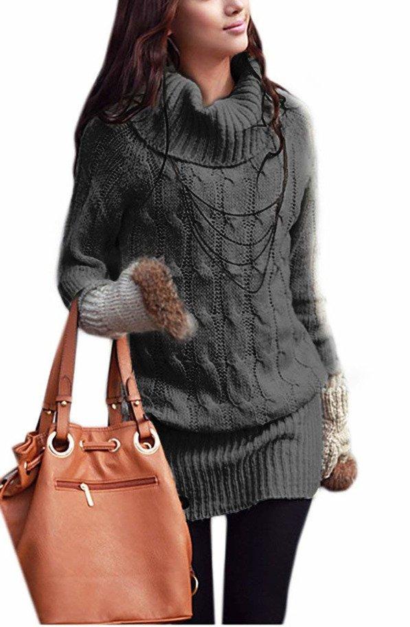 new style b27b2 18a42 Mikos Damen Strickpullover Sweater Rollkragen Pullover ...