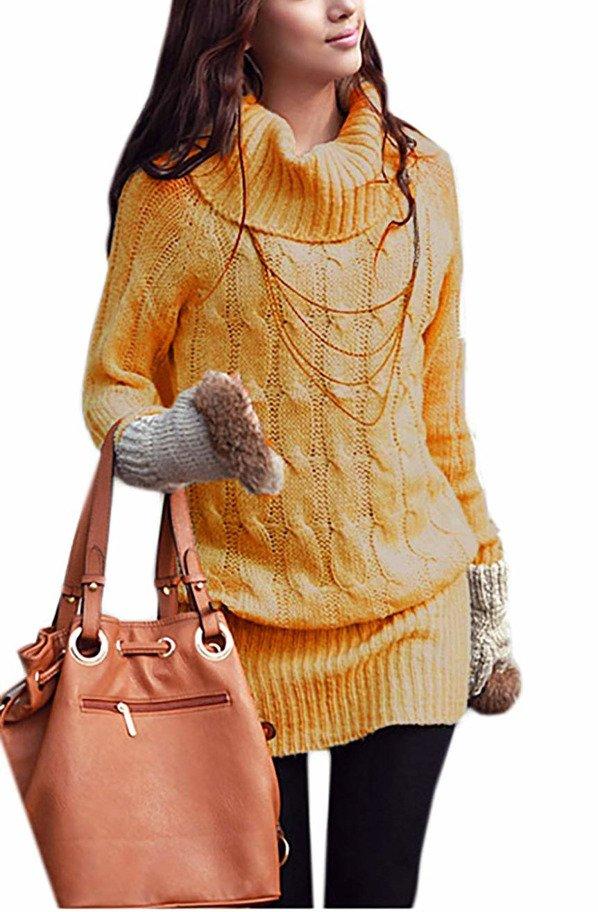 new style 35ceb a6807 Mikos Damen Strickpullover Sweater Rollkragen Pullover ...
