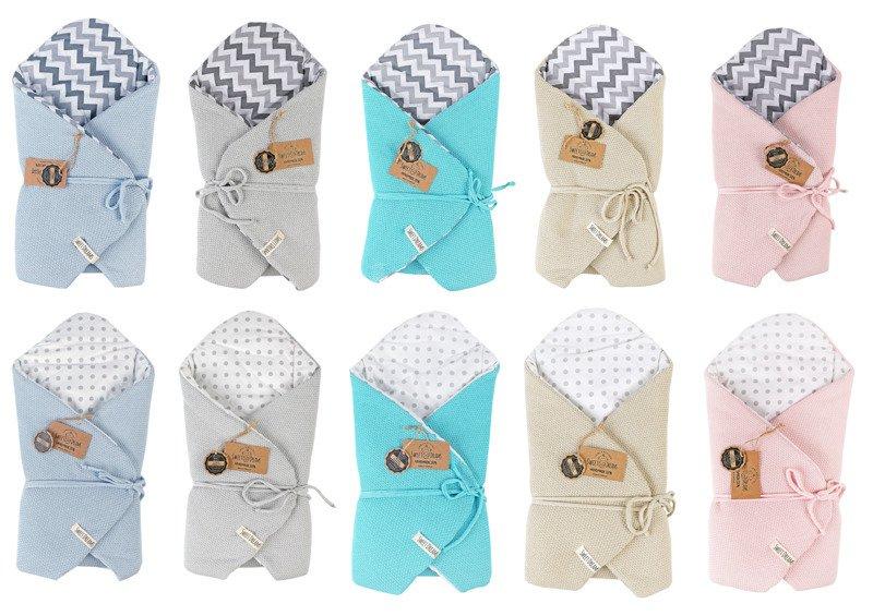 Baby Wickeldecke Einschlagdecke Schlafsack Geschenk für Baby minty
