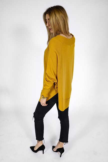 Pullover style Poncho - gelb