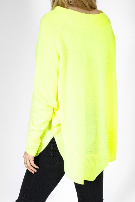 Pullover style Poncho - neon gelb