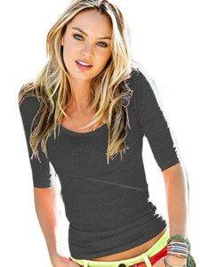 870f038a5f Mikos LETNIA bluzka bawełniana z półokrągłym DEKOLTEM 173 grafitowy