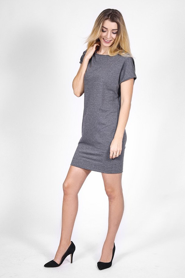 1fa084541d8860 Dzianinowa sukienka z kieszeniami grafit | Odzież \ Sukienki | Sklep ...