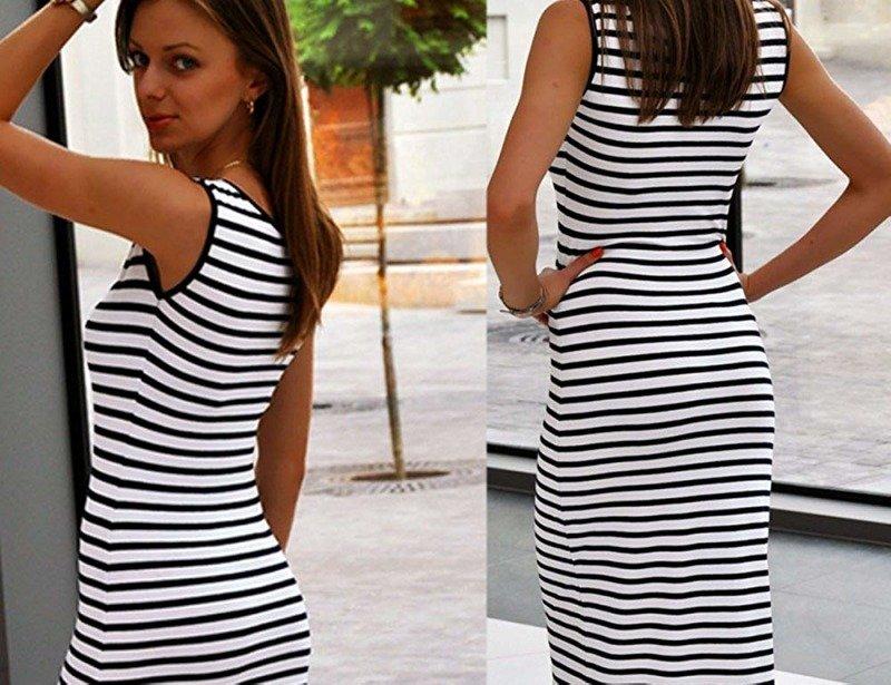 e6d158d61fe6ed Letnia sukienka maxi ramiączka 326